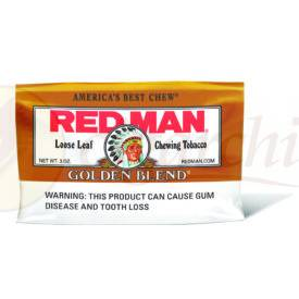 Red Man Chewing Tobacco Loose Leaf Gold